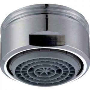 Aérateur cascade SLC M nombre de pièce : 10 Classe de débit B : 22,8 à 25,2 l/min à 3 bar. • Grille en élastomère : permet d'enlever le calcaire en frottant du doigt • Jet mousant et aéré (aérateur type venturi) • Niveau sonore très faible • Dôme supérieur de protection anti-calcaire (filtre les sédiments) Type d'embout : Mâle Filetage métrique : 24 x 100