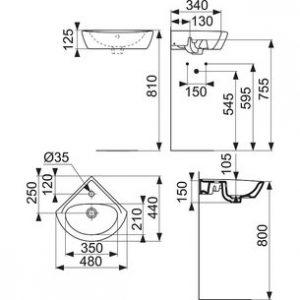 Pack lave-mains d'angle - AQUAFRANCE
