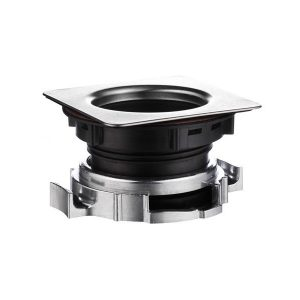 Bonde d'évier carrée en 90 mm pour broyeur d'évier de cuisine.